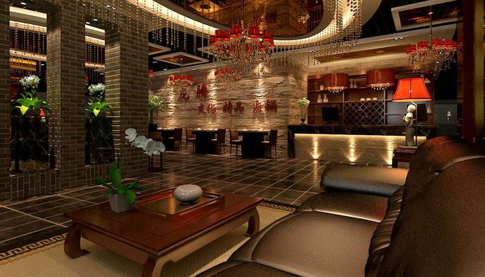 中式风格火锅店装修设计案例