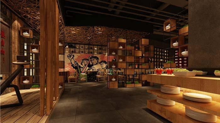 极具年代感特色餐厅装修设计案例